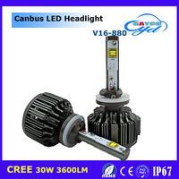 Newest Car Accessories V16 led headlight 12v, wholesales price led headlight bulb h4 h7 H1 H3 Hb4 H8 H9