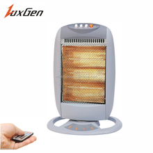 Handle portable electric halogen heater with remote
