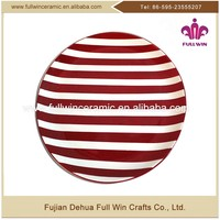 With Certification Dehua Lead-free Christmas Dolomite Ceramic Dinner Dish And Safeway Fruit Platter