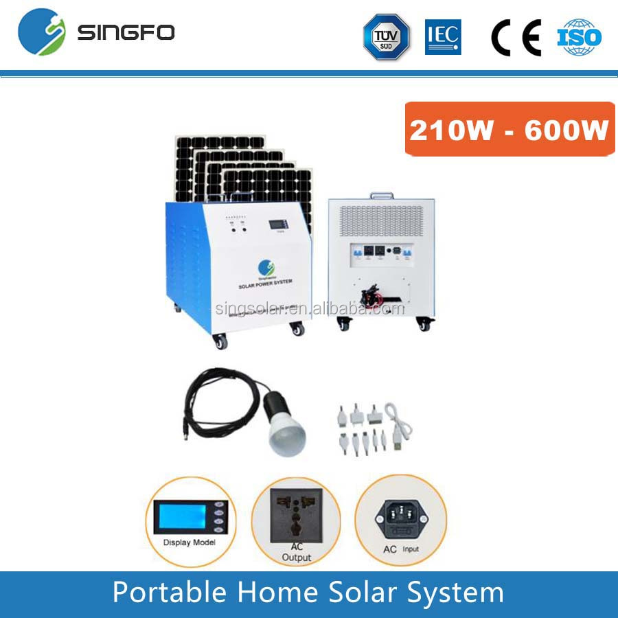 Residence used energy solar system 500w for unit home