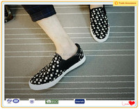 Top quality printed fabric urban sole wanted men shoes