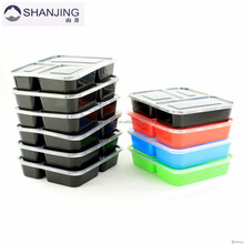 Colorful Food Storage FDA Approved Plastic bento Lunch Box containers Microwave 3 Compartment container