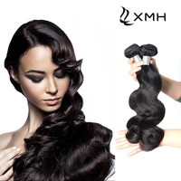 Body Wave Natural Color 7A Unprocessed Human Hair 4 Bundles With Closu Brand Hair