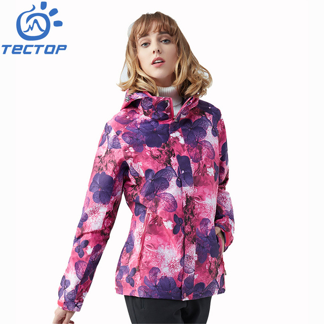 Latest Camouflage Polyester Hooded 3 in 1 Women Winter Jacket