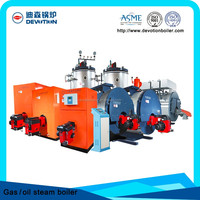 industrial machine gas oil diesel fired steam boiler for good price