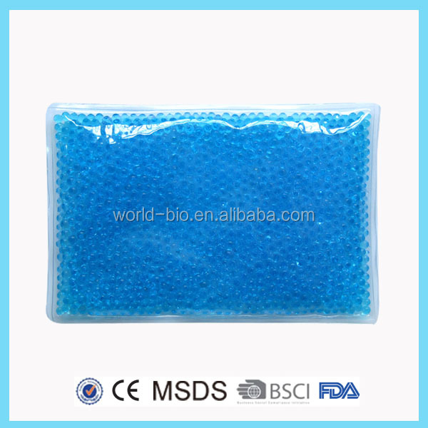 Reusable cooling gel beads hot cold pack