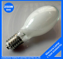 250W elliptical mercury lamp