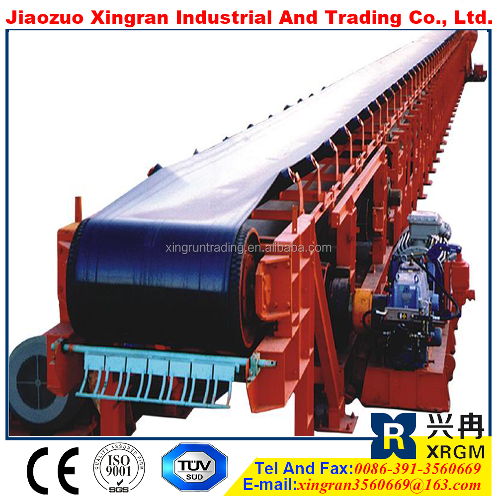 power plant conveyor rubber belt ore mobile rubber belt transporter inclined wedge conveyor system