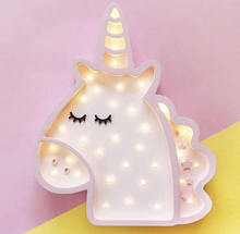 Nightlight Wooden Unicorn lamp for Girls room decor Gift
