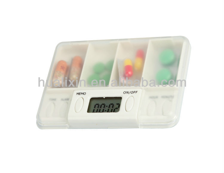 Personal Plastic Pocket Size 4 in 1 Digital <strong>Timer</strong> Hour Meter Multifunction Alarm Clock Electronic Pillbox Wholeasle