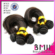 Hot !!! 100% Brazilian virgin Egg curl human hair weft /weaving extension