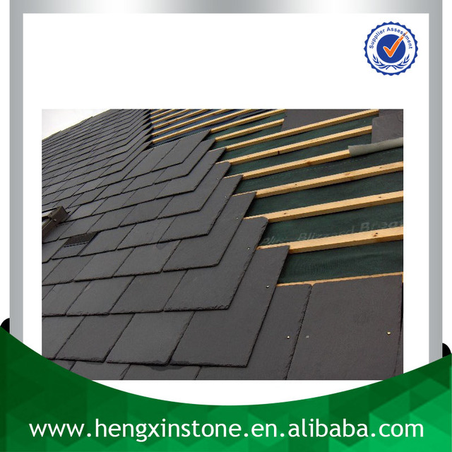 Chinese Factory Direct Sales 40*25*0.5cm Natural Rectangle Black Slate Roofing Slate slate price per square meter