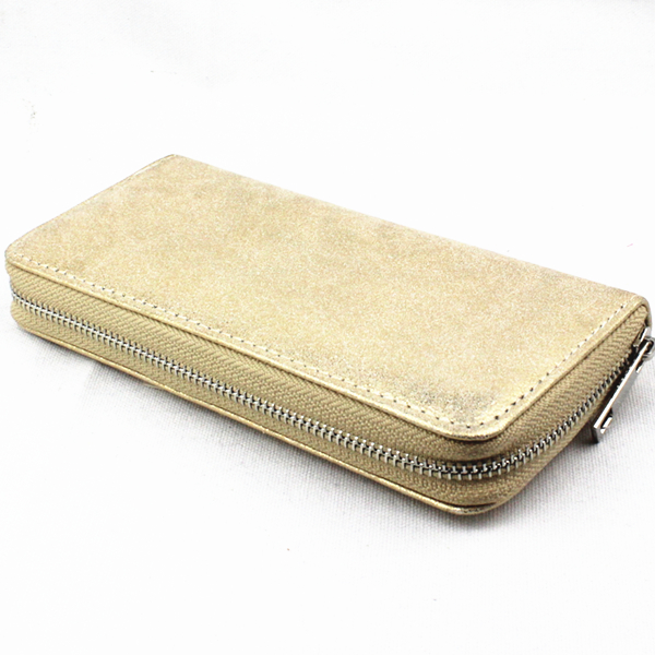 pu leather copper zipper cell phone wallet for iphone 6 plus