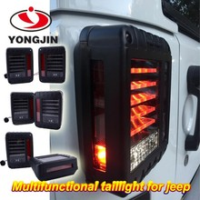 J eep wrangler 07-15 US JK led brake tail lights rear signal reverse lamps