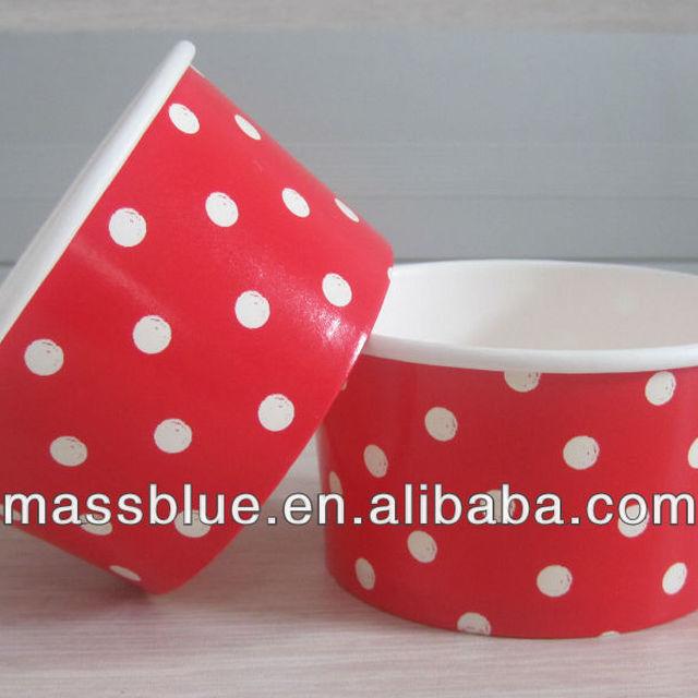 100% Biodegradable Custom Printed Frozen Yogurt Ice Cream Paper Cup
