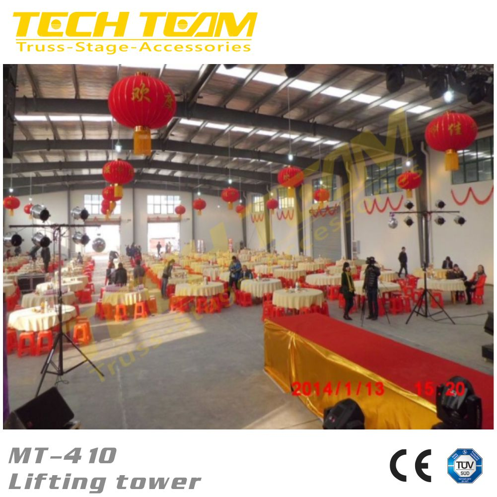 Weight 24kg Maxi height 4.1m portable lighting tower ,light tower lift