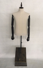 half-body male upper body fabric covered mannequin YD-1