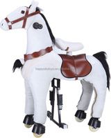 HI CE Hot toy !!! funny mechanical moving horse toy for kids riding,cute cartoon stuffed plush horse toy