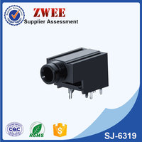 6.35 stereo female jack socket webcam with microphone and speaker