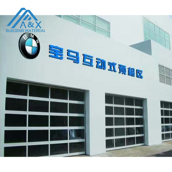 aluminum and glass garage automated door or 4S dealership/automatic used commercial garage doors 16x8