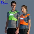 LED lighted mens cycling running wear reflective safety clothing