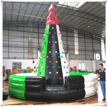 Indoor Adventure Kids Interactive Sport Game Toy Inflatable Rock Climbing Wall