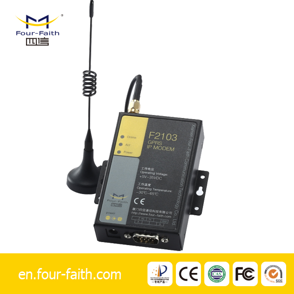 F2103 gsm gprs RS232/RS485 modem for electric meter reading, sensor, PLC, SCADA, AMR, telemetry