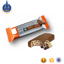 Custom printed laminated plastic chocolate and cereal snack food energy bar packaging roll film