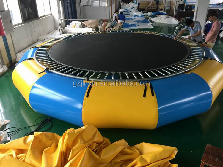 Aqua Park Used Floating Inflatable Water Trampoline Water Games Jumping Bed Bouncer Cheap Inflatable Platforms Water Trampoline