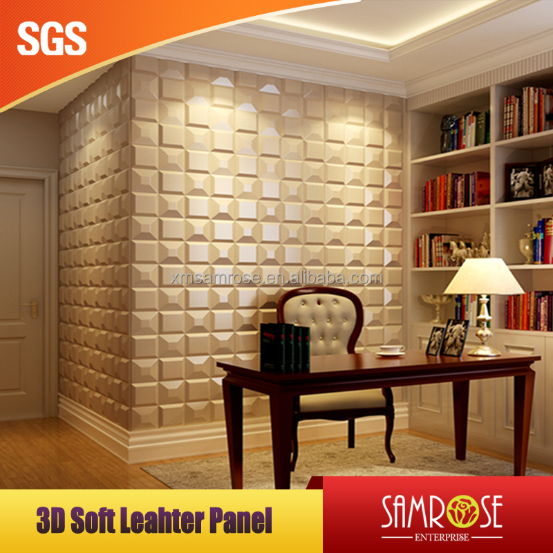 Acoustic foam panel decorative leather wall panels cinema decorative hotel sound proof panels