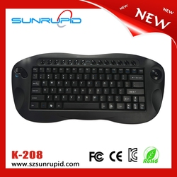 2.4G Wireless mini keyboard trackball, mini wireless multimedia type keyboard Nano receiver