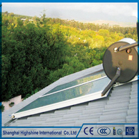 Comfortable new design flat panel split high pressure solar water collcetor Flat Panel Solar Water Heater