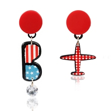 YG-055 Cartoon Earrings Import From China Acrylic Stud Earring Airplane Jewellery Earrings