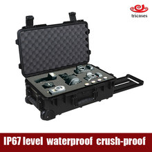 Shanghai OEM manufacturer injection molded large engineering PP waterproof hard plastic tool box for camera/lights