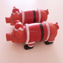 china suppliers supply screaming rubber vent toy pig for pet toy