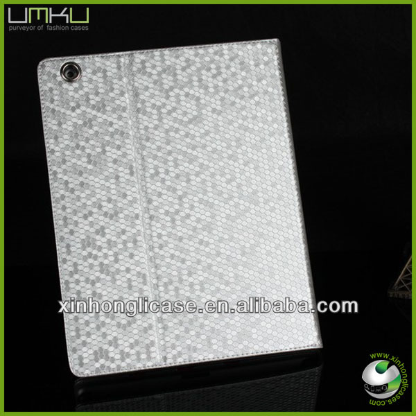 Diamond PU leather smart cover case for apple ipad mini