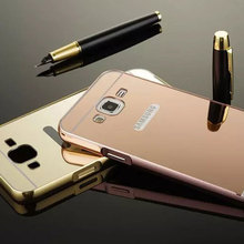 wholesales factory price bumper electroplating mirror smart phone case cover for samsung galaxy j5