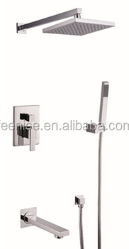 Rainfall Waterfall Bathroom Concealed Wall Shower Set FNF62021R