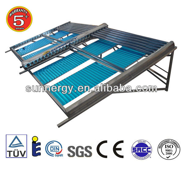 Stainless steel both open solar evacuated tube collector