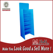 Custom Corrugated cardboard floor display shelf stands for retail