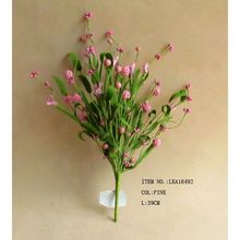 Spring High Quality Artificial Small Pink Paper Flowers with Green Grass Room Decoration Flower