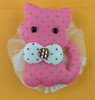 cat with rhinestone padded applique patch