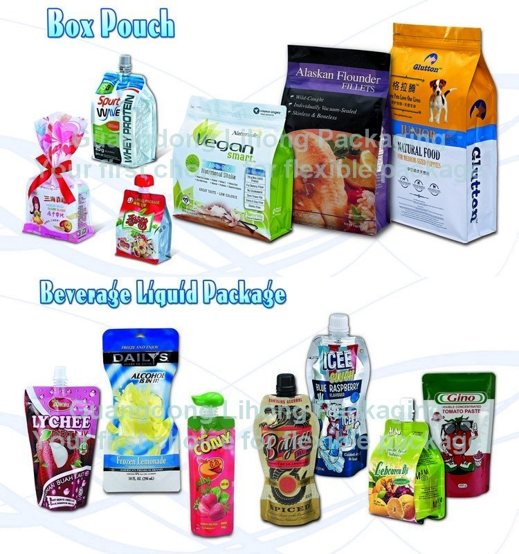 LOGO Printed Plastic Stand Up Sachet Packaging Shampoo Bag With Spout