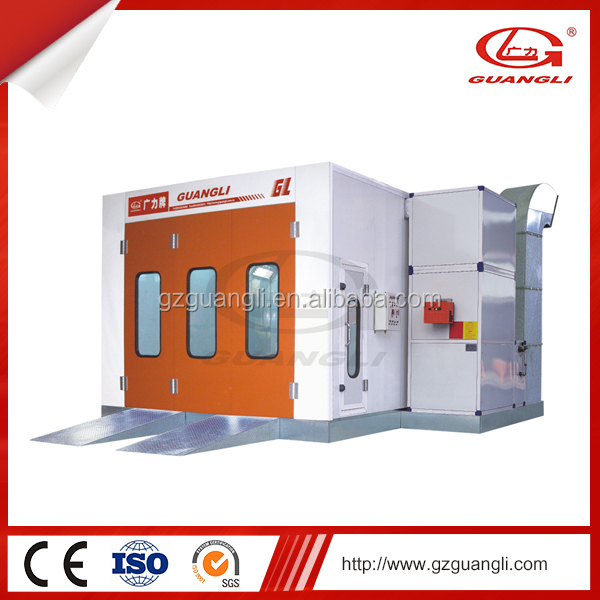 Guangdong 13.5kw power pressure lock mini auto spray painting booth