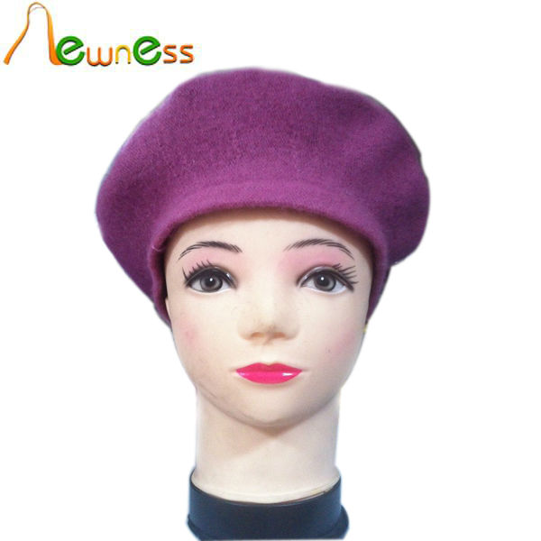 2014 New Arrival Fashion Wool Felt Beret Hat For Women With Cheap Price