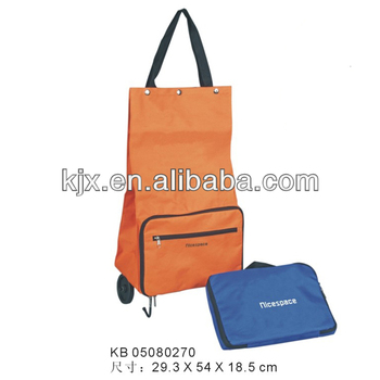 Foldable trolley bag fashion trolley shopping bag
