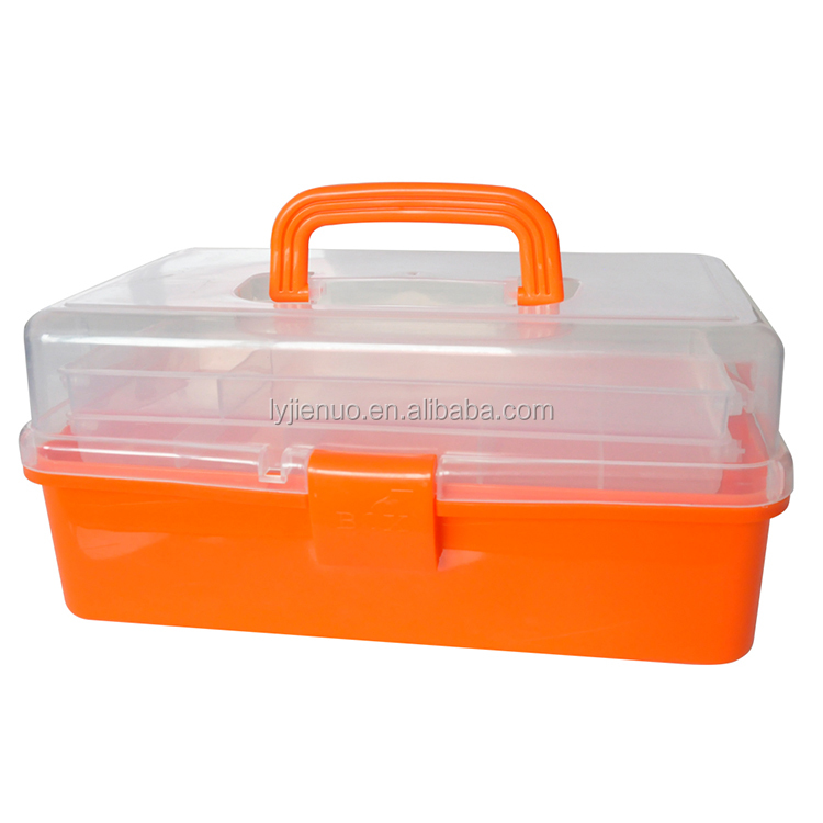 Multi-function transparent plastic tool box with drawers