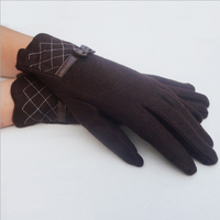 W71122G 2015 new design thick winter gloves wool gloves warm with bowknot