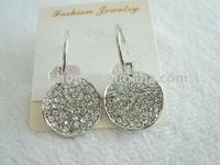 elegant crystal and alloy earring for 2011 summer young ladies