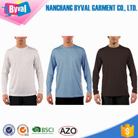 100% Polyester Fishing Shirts Long Sleeve t Shirt Sublimation UPF 50 T-Shirt Custom Outdoor Sports Tshirt Printing Quick Dry